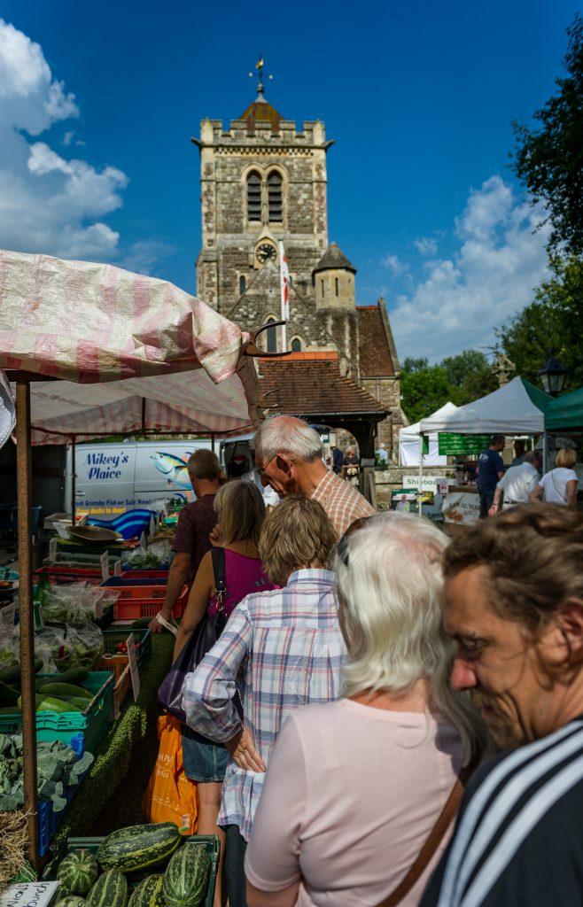 Shipbourne Farmer's Market, St Giles Church, Shipbourne, Kent